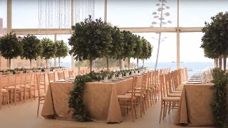 Making Of Wedding Set Up Tent in a Beach Castle Venue in Europe Portugal