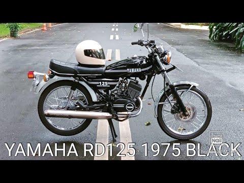 DIJUAL Yamaha RD125 Twin 1975 Black (SOLD)
