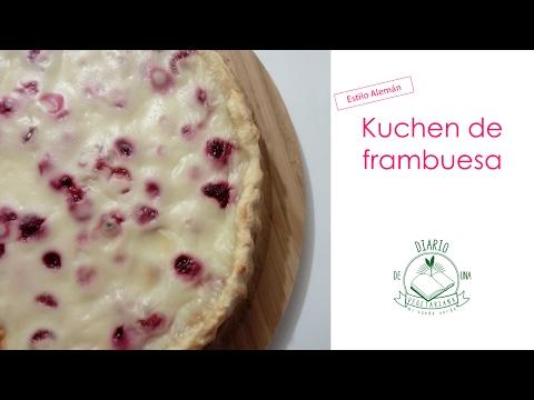 Kuchen Frambuesa Estilo Alemán