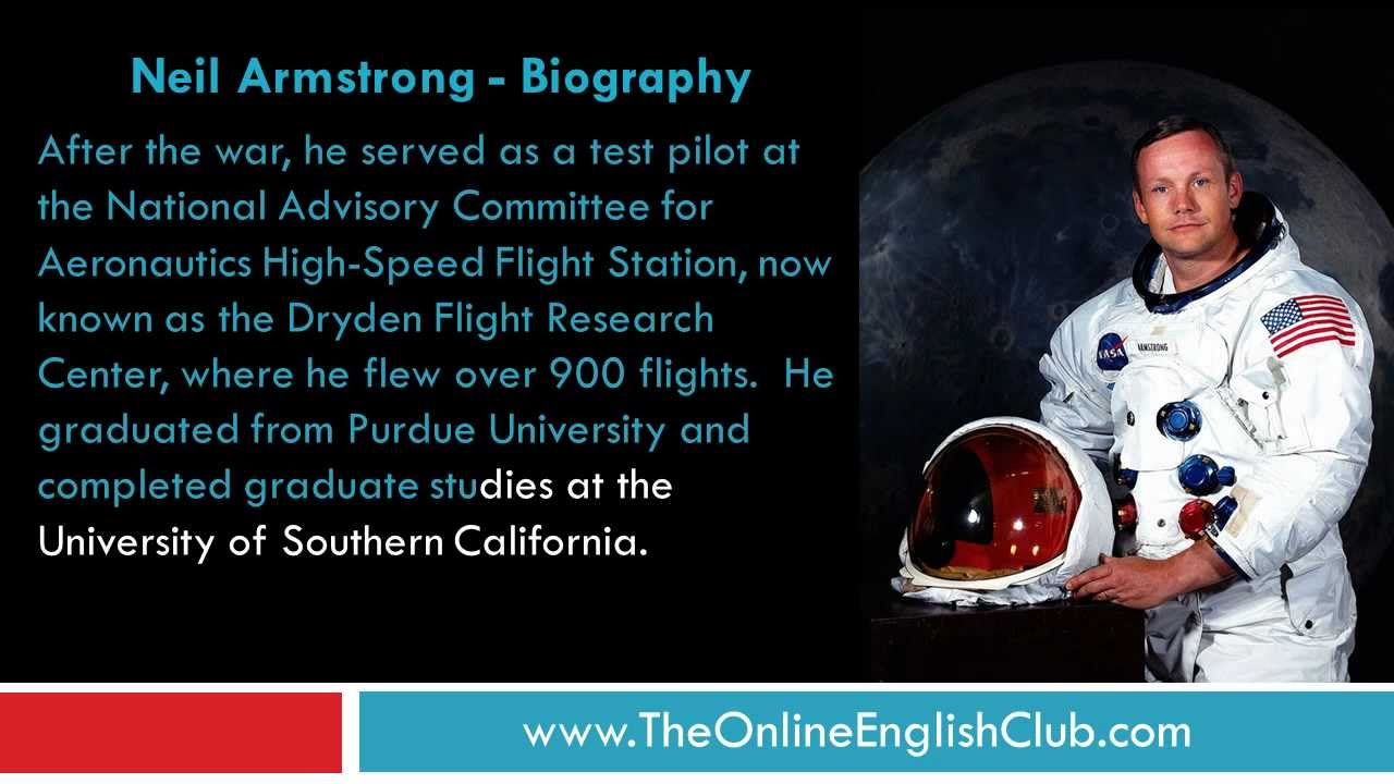English Listening Practice - Neil Armstrong - YouTube