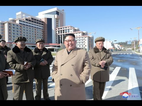 Chairman Kim Jong Un inspects newly reconstructed Samjiyon County