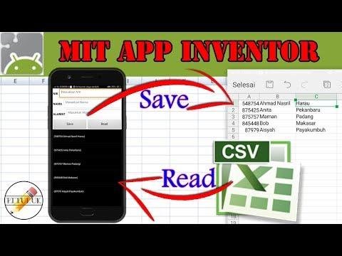 Save To Excel And Read To Listview   MIT App Inventor