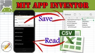 Save to Excel and Read to Listview | MIT App Inventor