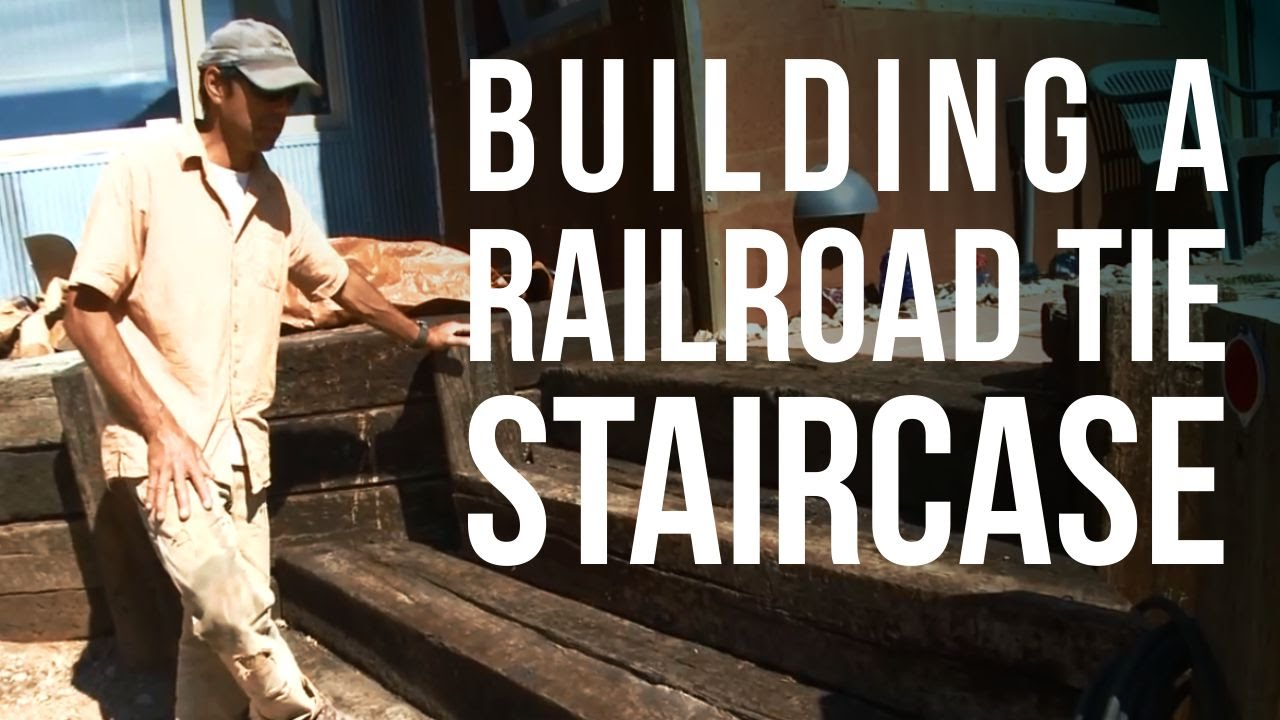& Adding a Railroad Tie Staircase to an Existing Patio - YouTube