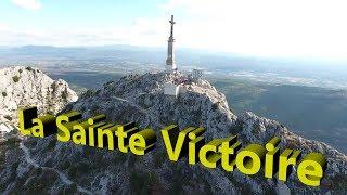 vol drone phantom 3 advanced montagne sainte victoire