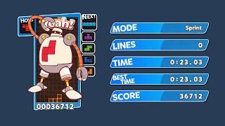 OBSOLETE [TAS] Puyo Puyo Tetris (PC) Sprint - 23.03 sec (9 Perfect Clears - 7 Tetris PCs)