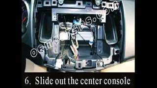how to install car audio dvd player for MITSUBISHI OUTLANDER