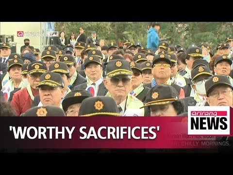 Denuclearization will prove value of servicemen's sacrifices in Korean War: Pres. Moon
