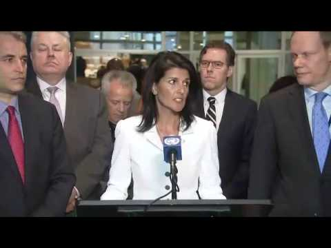 A total ban on nuclear weapons? - Media Stakeout with Nikki Haley and others