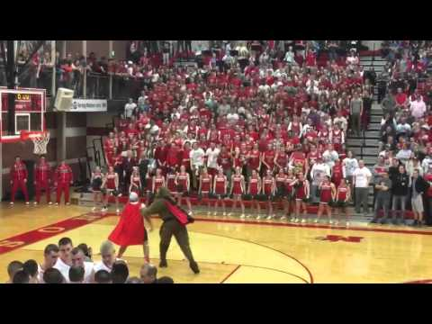 Madison high school VS Higland Rams student section fight