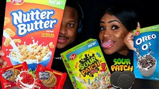 ASMR Crunch Trying New Cereals
