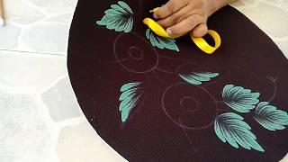 tutorial de hojas cepilladas y flores de listn