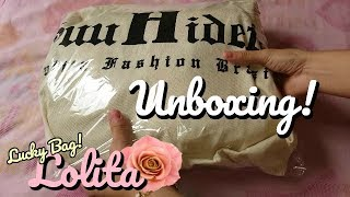 Unboxing Lucky Bag Lolita JFashion - Suu Hideto Store ((With English Subtitles))