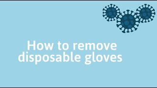 Coronavirus disease (COVID-19): How to remove disposable gloves