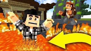 LE SOL C'EST DE LA LAVE CHALLENGE ! 🔥   Minecraft Skywars