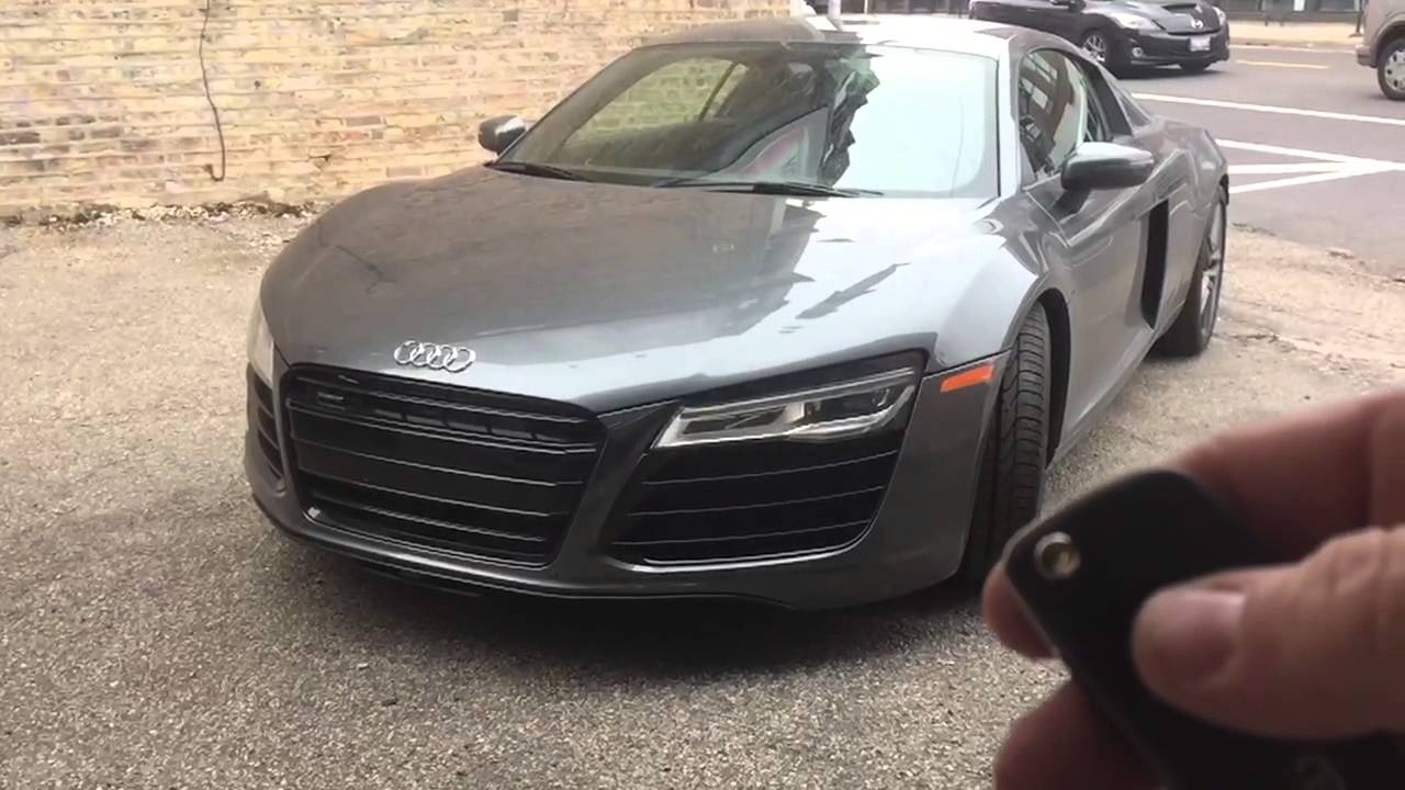 2015 Audi R8 Motorized Front License Plate With Custom