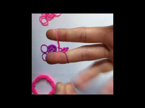 How To Make A Rocky Rainbow Loom Bracelet! With Your Fingers!