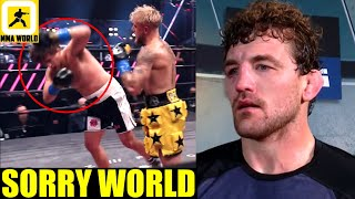 MMA Community Reacts to Ben Askren getting knocked out in under two minutes versus Jake Paul,Conor