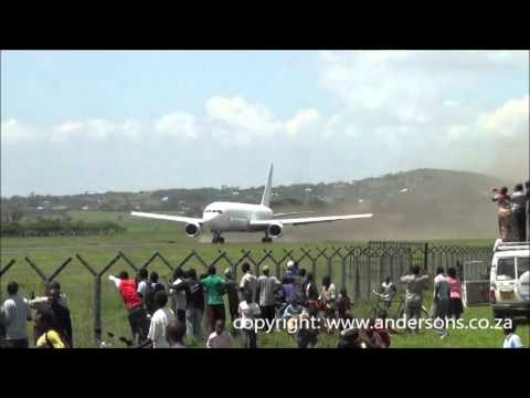 Record short takeoff by a 767-300  in Arusha Tanzania
