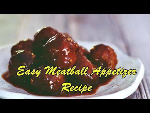 Easy Meatball Appetizer Recipe
