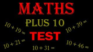 maths online - math for kids Plus 10 TEST