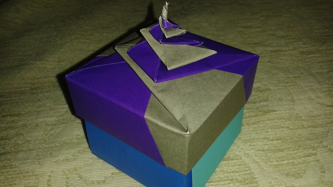 Origami: spiral box - YouTube - photo#47