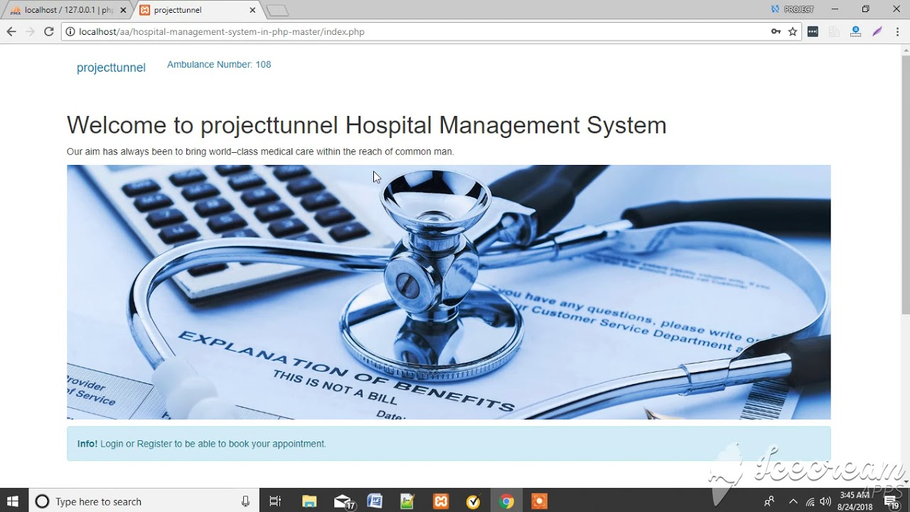 Online Hospital Management project in PHP - Deng Info Tech Solutions