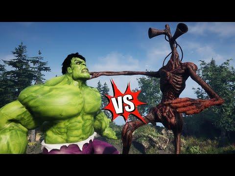 Hulk Vs Siren Head | Hulk Fight | Siren Head | SCP-096 Vs Siren Head | AMONG US