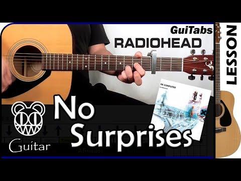 Cómo tocar No Surprises de Radiohead 😵 / Tutorial para Guitarra 🎸