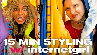 INTERNET GIRL JUDGED OUR 15 MIN STYLING CHALLENGE *it was wild* | Nayva Ep #54 | Beauty and Fashion