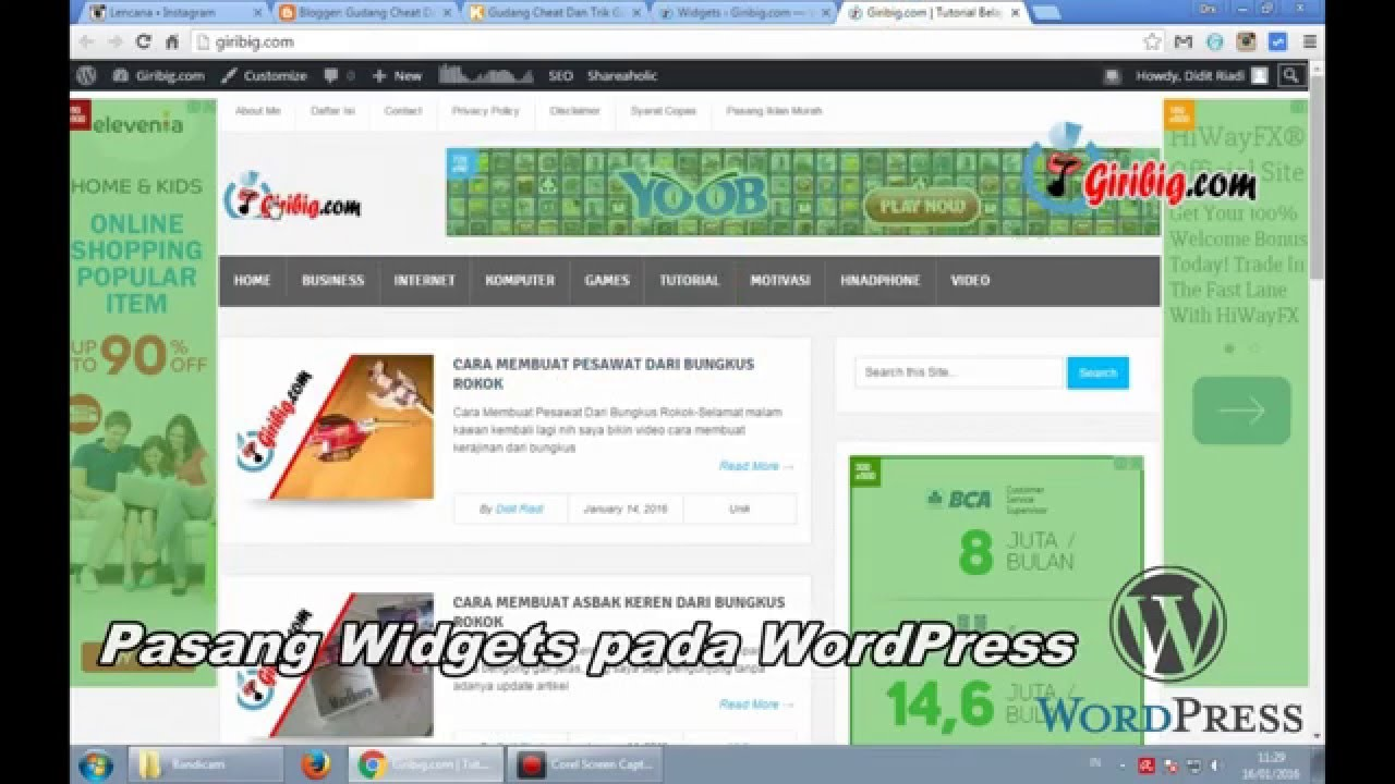 how to add youtube video widget in blogger