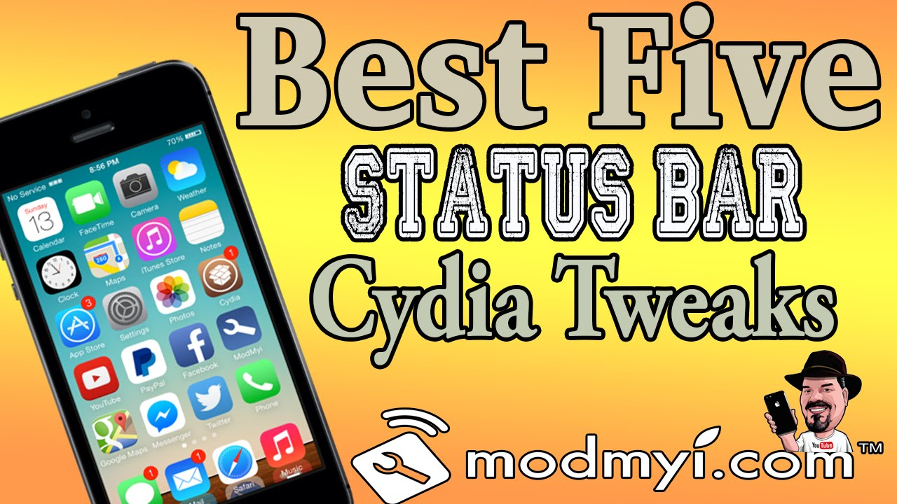 Best Top Five Status Bar Cydia Tweaks Ios 7 August 1 2014 Youtube