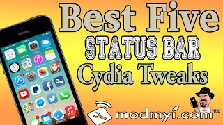 Best Top Five Status Bar Cydia Tweaks iOS 7 August 1, 2014