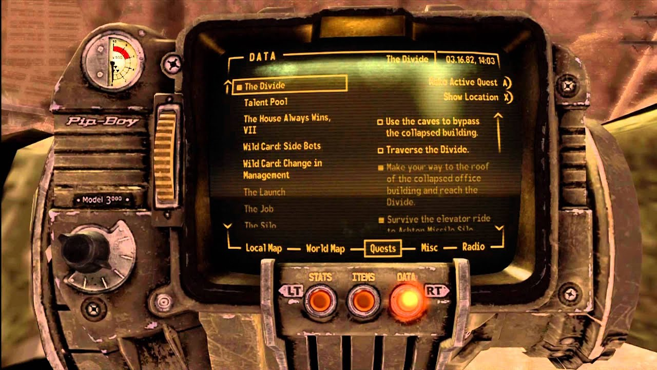 Ulysses Log Y:17.17 4th Location Fallout New Vegas Lonesome Road (HD 1080p)