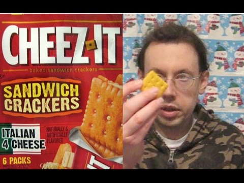 CheezIt Italian Four Cheese Sandwich Crackers Review