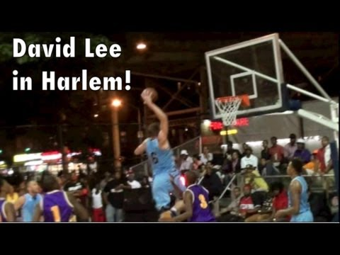 David Lee - Rucker Park Highlights in Harlem! + Kent Bazemore! Golden State Warriors at EBC!