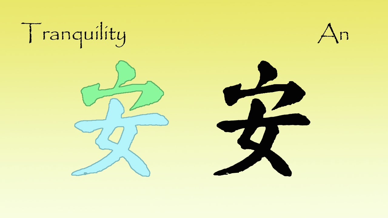 Chinese Characters Comfort Tranquility An Is Based On