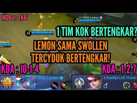 Lemon Sama Swollen Terlibat Pertengkaran di Arena Kontes INDO vs THAI - Mobile Legends