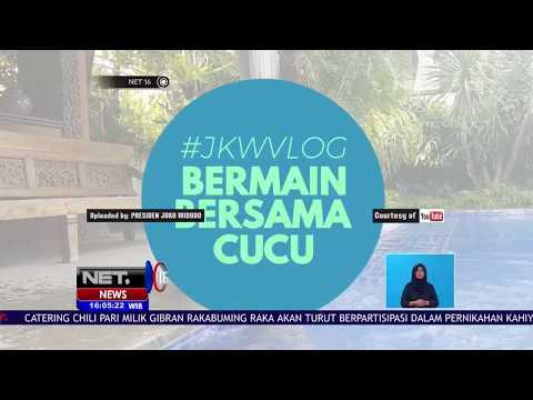 Keseruan Presiden Jokowi Bermain dengan Cucunya