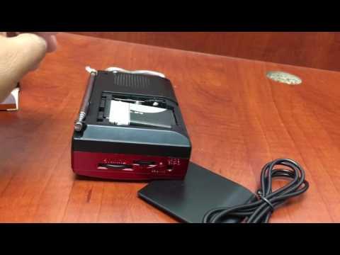 Bocina portatil con radio y bluetooth modelo iphoenix ip-106ambt