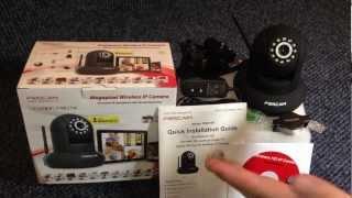 Foscam FI9821W Wireless IP Camera Unboxing