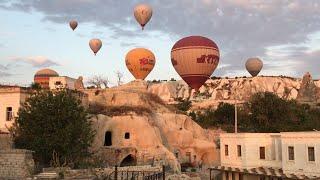 2#. Турция . Каппадокия. Воздушные шары . Ночь в горах . Отель в пещере номер султана.