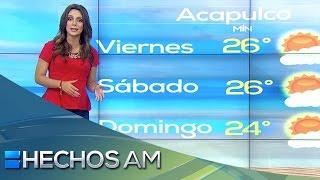 Pronóstico del tiempo con Vaitiare Mateos (3). Viernes 13 de noviembre 2015