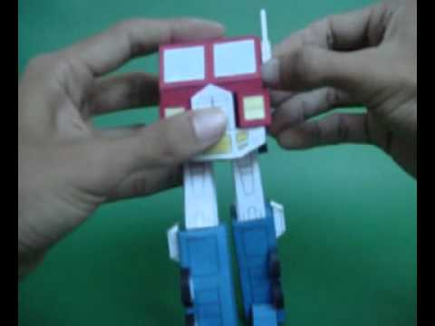 Papercraft AUTOBOT-LEADER-OPTIMUS-PRIME-SEASON1-MADE-IN-CARDBOARD