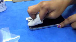 How To Apply a Screen Protector PERFECTLY on iPhone 5 ! - NO BUBBLES !!!