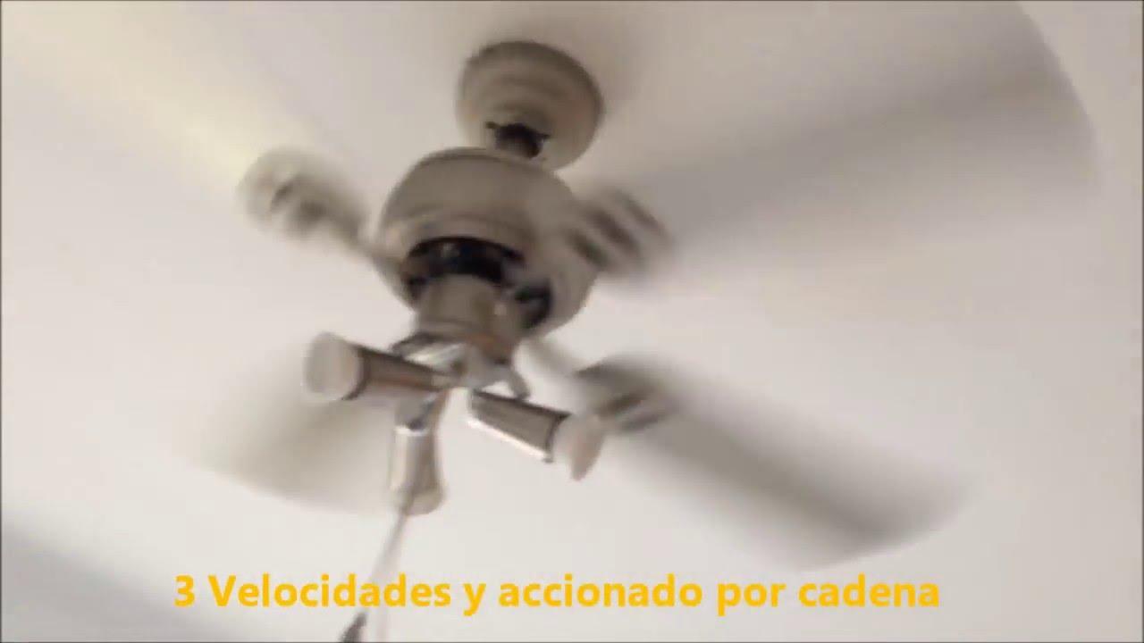 Ventilador De Techo Con Luz Galapago