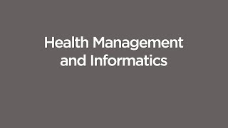 Health Management and Informatics Executive Programs