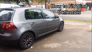 How to Fit Wind Deflectors