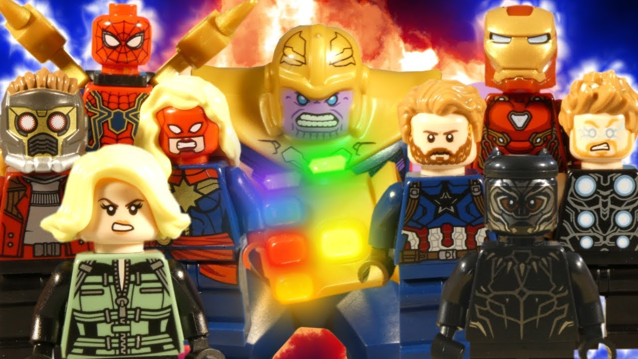 LEGO AVENGERS INFINITY WAR THE MOVIE - MARVEL STOP MOTION ...