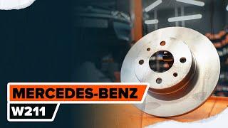 Cómo cambiar los discos de freno traseros en MERCEDES-BENZ (W211) Clase E [TUTORIAL DE AUTODOC]
